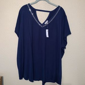 NWT plus size 30/32 avenue top with rhinestones